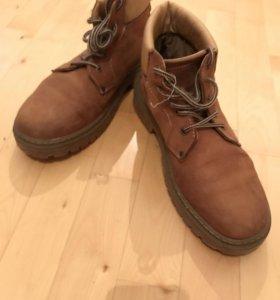 Коричневые сапоги(ботинки) для зимы