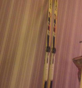 Лыжи классические с креплениями 190см