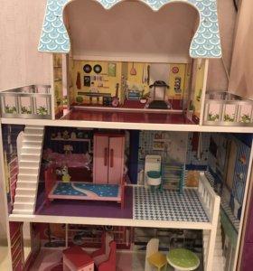Кукольный домик трёх ярусный
