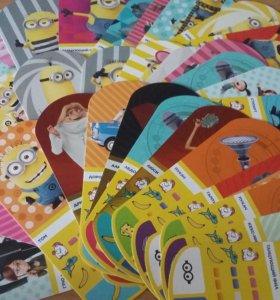 Коллекционные карточки Миньоны