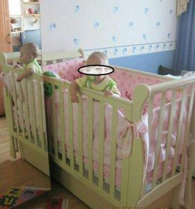 Кроватка детская Кубаньлесстрой б/у