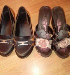 Обувь 38 размер,две пары 600