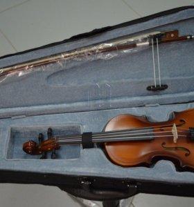 Новая немецкая скрипка Brahner 4/4 с комплектом