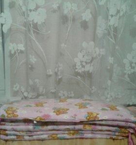 Бортики в детскую кроватку для девочки