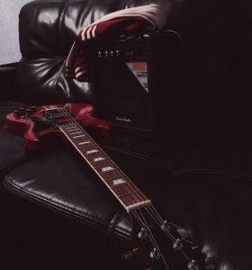 Электрогитара JK и гитарный комбоусилитель Borton