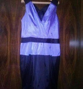 Платье приталенное, юбка фонарик