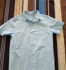 Рубашки с короткими рукавами б/у 4 пары.