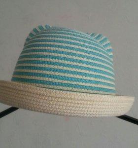 Шляпка детская, плетеная. Р-р 52-53