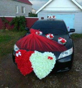 прокат украшения на свадебный автомобиль