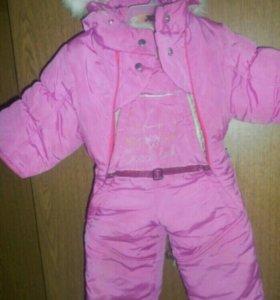 Комбинезон зимний для девочки 1 год