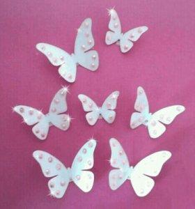 Настенные бабочки Стильные