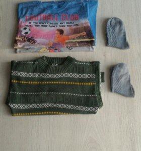 Футболки, свитер на рост 116