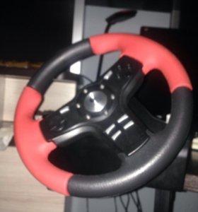 Руль и педали Logitech