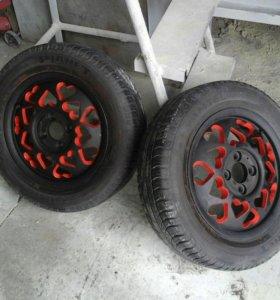 диски с летними шинами  175/65 R14  4*100