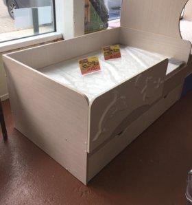 Дельфин 1,4 кроватка детская (ваниль )