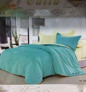 Новое постельное белье 1,5; 2; евро. Разные цвета