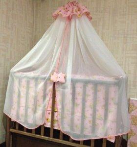 Детская кроватка (маятник) с матрасом