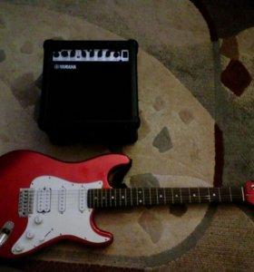 Продам электро гитару + комбик
