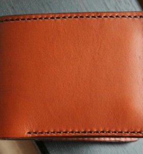 Мужское портмоне из итальянской кожи класс премиум