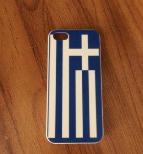 Чехол на iPhone 5/5s Греческий флаг