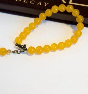 Комплект из желтого агата
