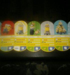 Карточки из магнита 1 штука- 35 рублей