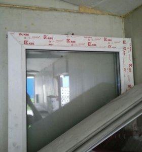 Дверь и окно пластиковые, балконные,