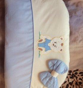 Бортик + балдахин, одеяло, постельное бельё