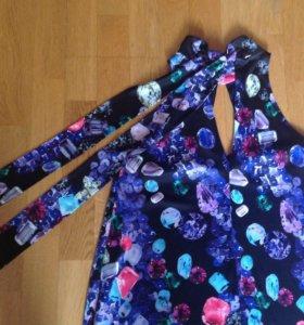 Платье с принтом от Roberto Cavalli