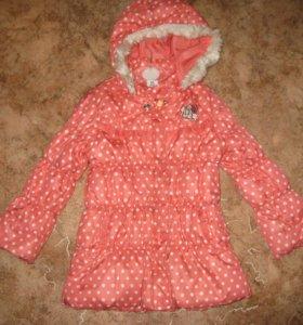 Продам куртку на девочку Б\у, весна - осень, состояние новое р-р 116 см.