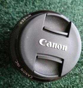 Объектив canon lens ef 50mm 1 1.8 ii