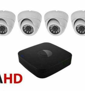 Комплект видеонаблюдения (4 камеры)