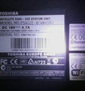 Ноутбук тошиба A300 - 22X