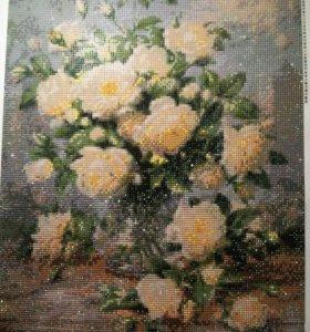 Алмазная картина ручной работы