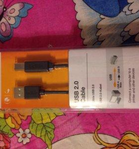 Кабель Belkin для принтера. USB