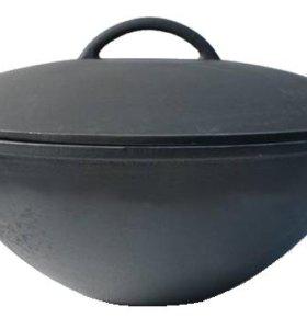 Казан чугунный с крышкой 20 литров