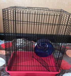 Двухэтажная клетка для мелких грызунов