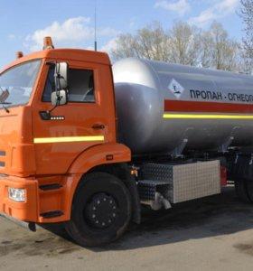Заправка газгольдеров, Доставка газа