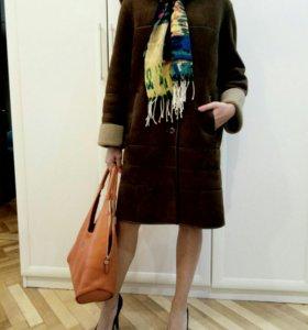 Пальто демисезонное замша