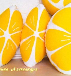 Подушки лимонные дольки