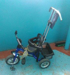 Велосипед синий
