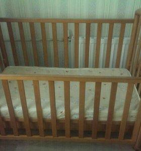 Продам детскую кроватку-качалку