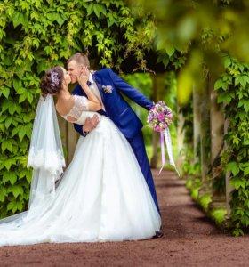 Свадебное платье+шикарная фата