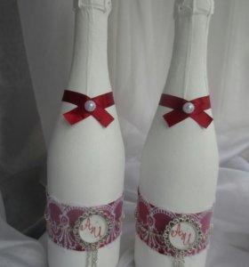 Подарочное оформление бутылок