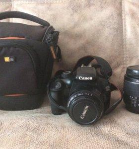 Фотоапарат Canon EOS 1100D с двумя объективами