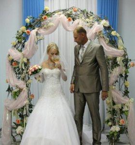 Шикарное свадебное платье!!