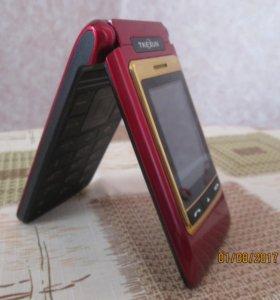 Китайский мобильный телефон-раскладушка с внешним