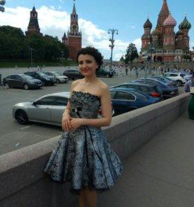 Платье коктейльное, с корсетом