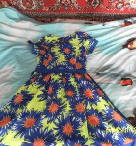 Летние платья) Размер от 44 до 48 (XL)