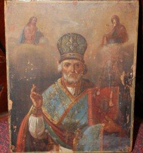 Икона Николай Чудотворец Зимний Красивое Письмо